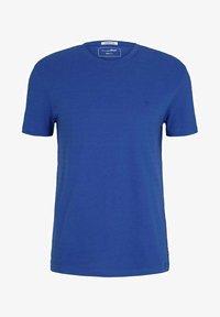 TOM TAILOR DENIM - Print T-shirt - shiny royal non solid - 4