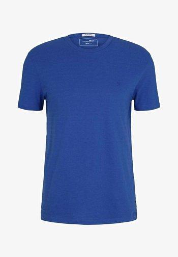 Print T-shirt - shiny royal non solid