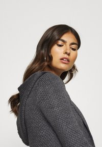 Anna Field - HOODED CARDI - Cardigan - dark grey melange