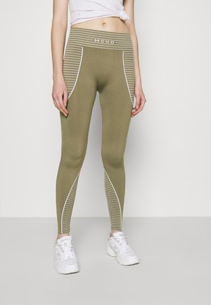 SEAMLESS HIGH WAISTED - Leggings - Trousers - khaki