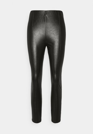 HIGH WAIST WITH SEAM DETAIL - Trousers - black