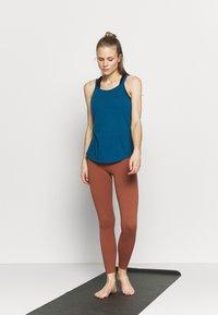 Nike Performance - YOGA STRAPPY TANK - Topper - valerian blue/industrial blue - 1