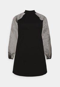 Missguided Plus - PLUS HIGH NECK SLEEVE MINI DRESS - Cocktail dress / Party dress - black - 4