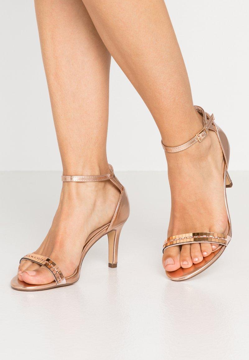 Dorothy Perkins Wide Fit - SLING MIRROR TRIM 2 PART - High heeled sandals - rose gold