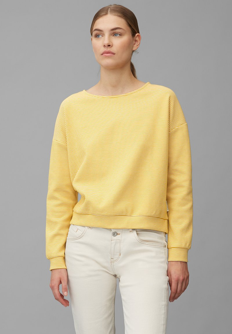 Marc O'Polo - AUS REINER BAUMWOLL-QUALITÄT - Long sleeved top - multi/pure curry