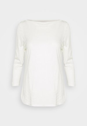 SLASH NECK TEE - Long sleeved top - offwhite