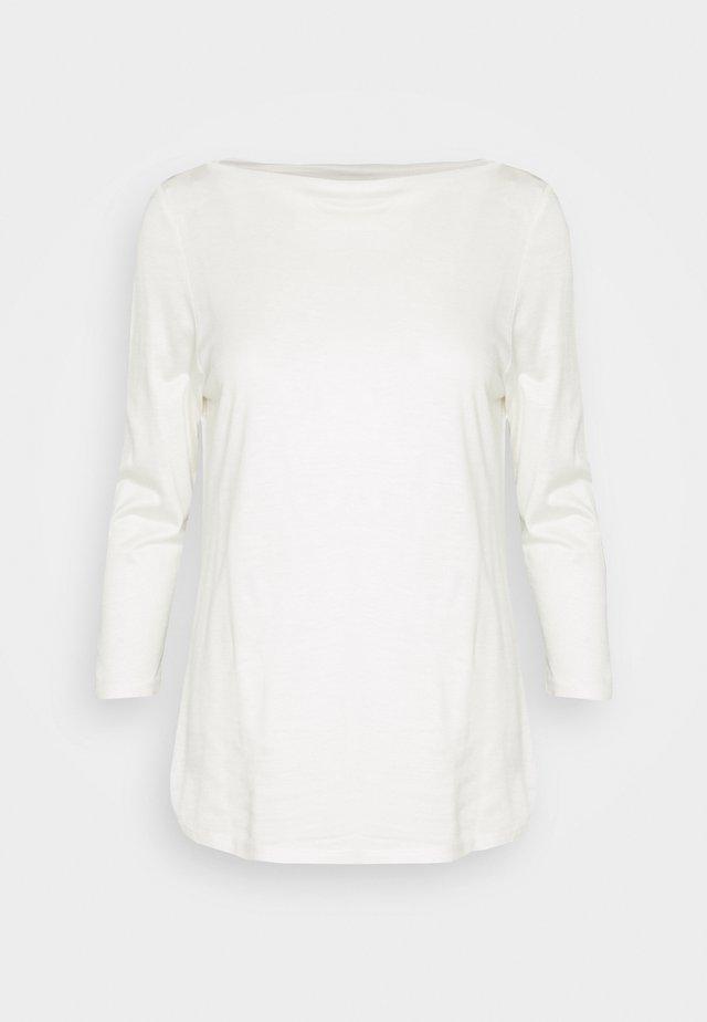 SLASH NECK TEE - Pitkähihainen paita - offwhite