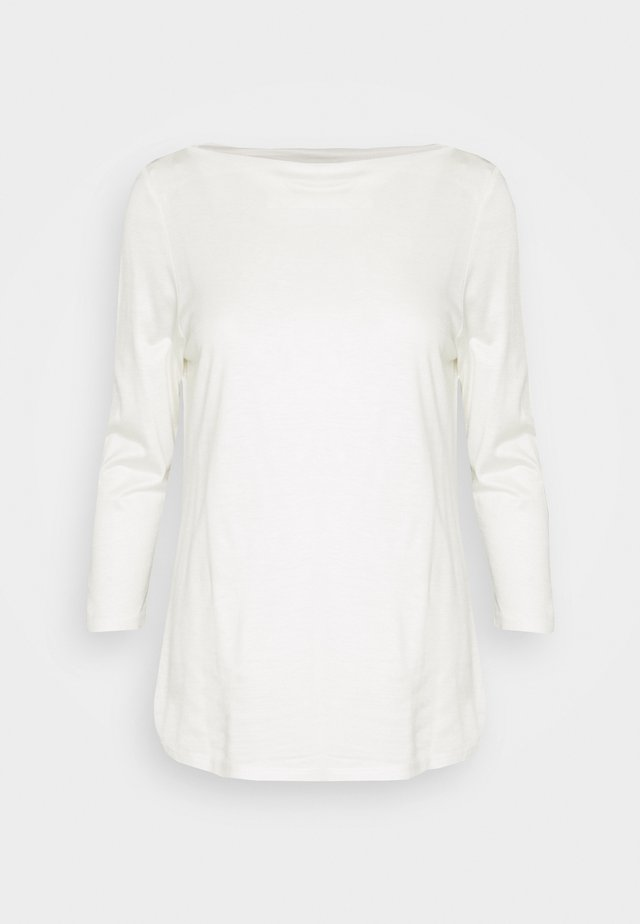 SLASH NECK TEE - Long sleeved top - offwhite