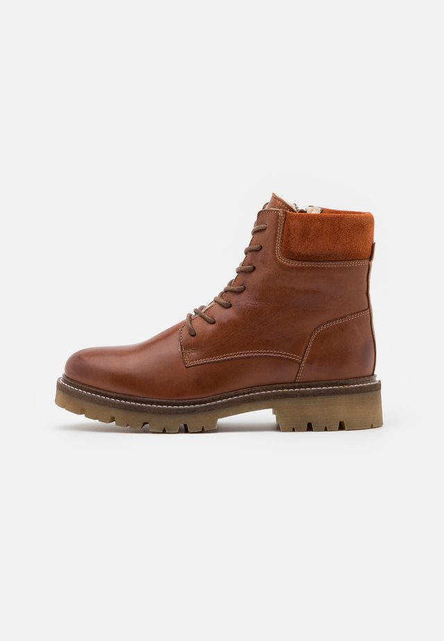 BIADIYA LACED WARM BOOT - Winter boots - cognac