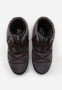 Moon Boot - BOY MID  - Botas para la nieve - black /castlerock - 3