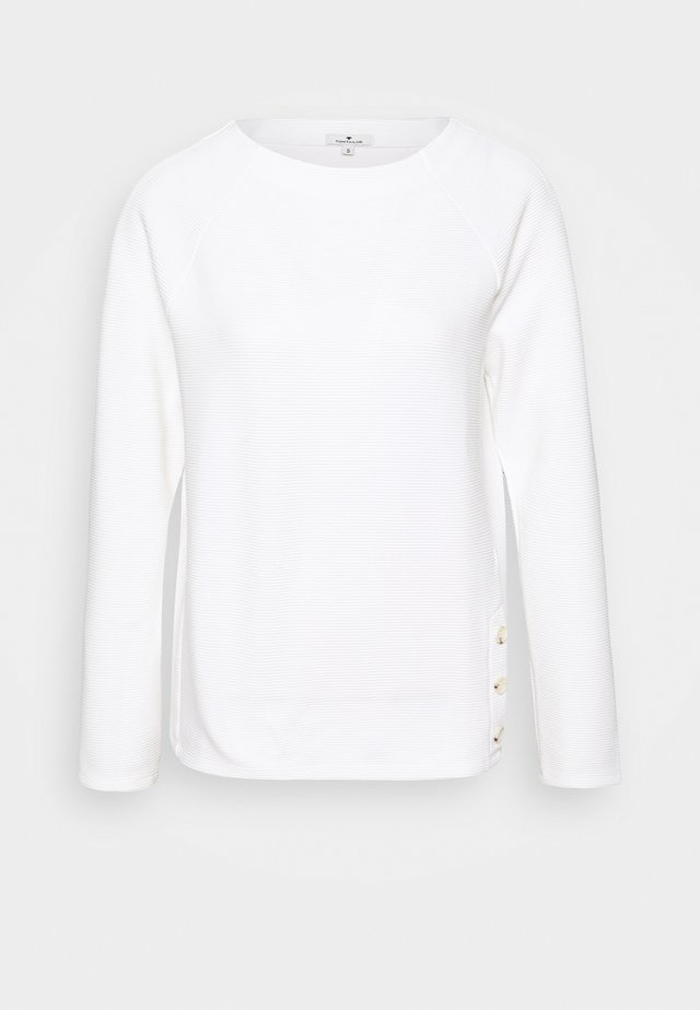 BUTTON DETAIL - Sweatshirt - whisper white