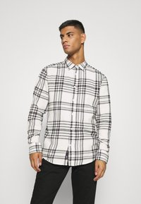 Only & Sons - ONSNATE LIFE CHECK SHIRT - Shirt - star white - 0