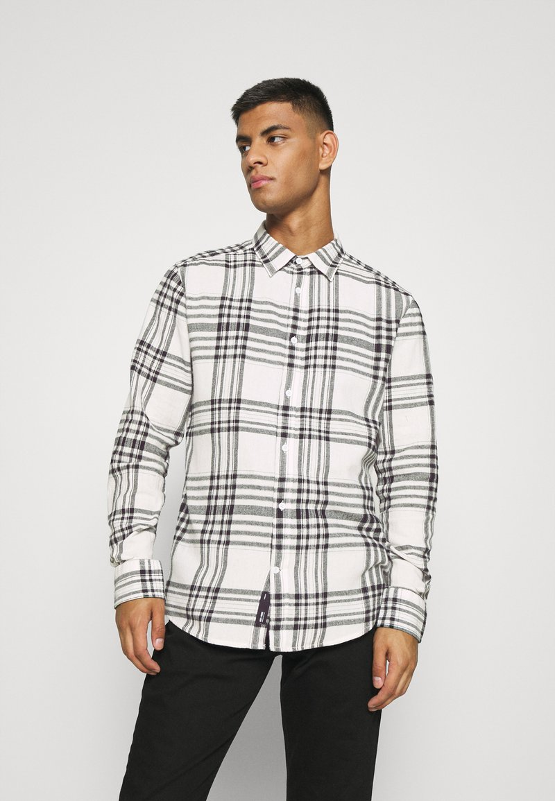 Only & Sons - ONSNATE LIFE CHECK SHIRT - Shirt - star white