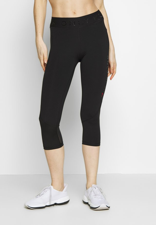 ONPPERFORMANCE TRAINING - Pantalón 3/4 de deporte - black/red