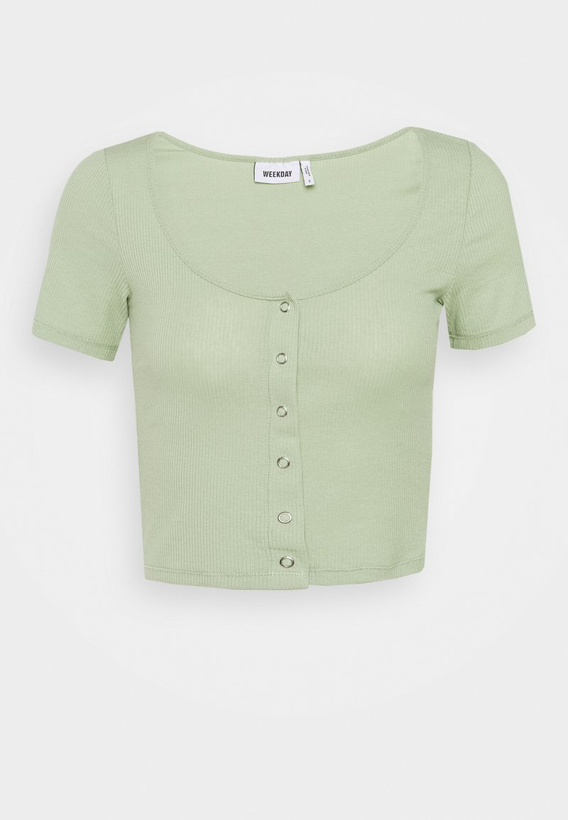 Weekday - BARTOLA - T-shirts - pistachio