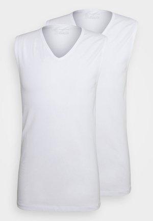 2PACK Tank Top V-Ausschnitt Organic Cotton - 95/5 Original - Undershirt - weiss