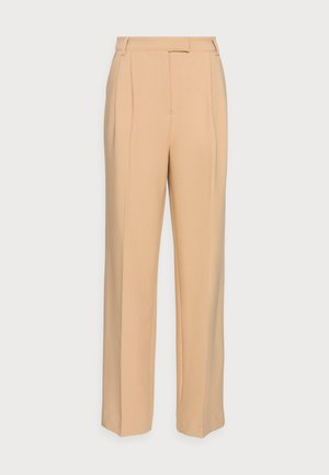MOORE PLEATED PANTS - Trousers - cream