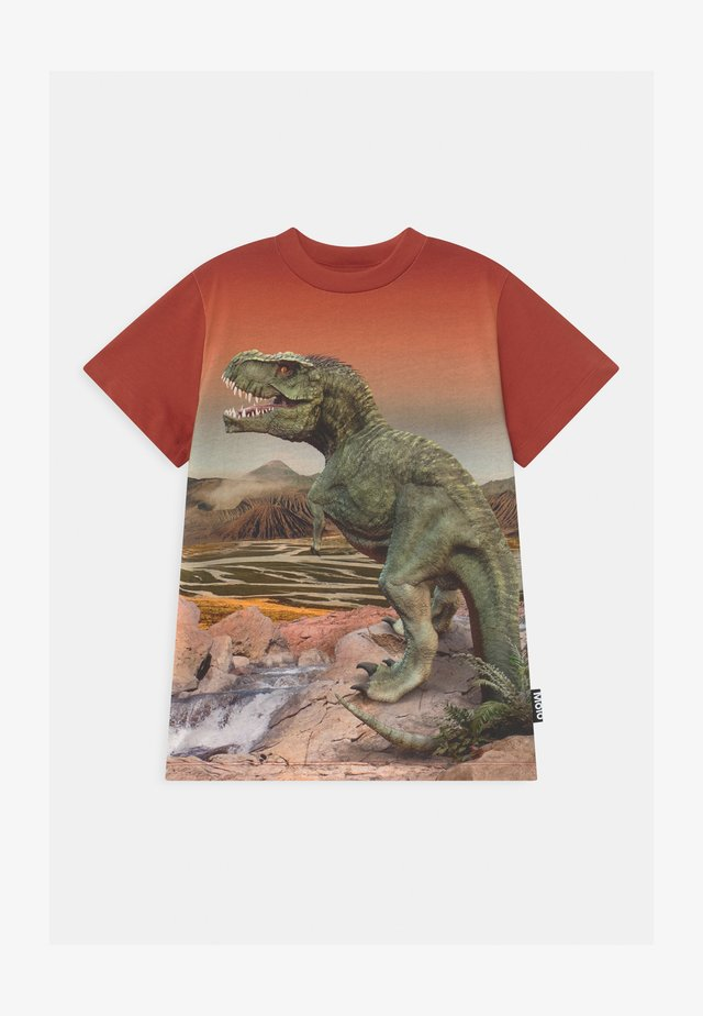 ROAD - Print T-shirt - red