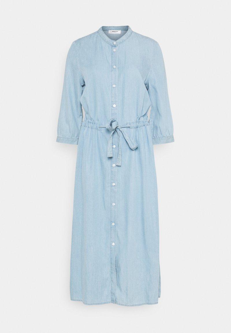 Moss Copenhagen - JAINA 3/4 DRESS - Denimové šaty - light blue wash