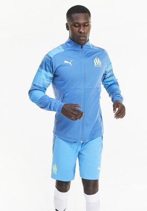 OLYMPIQUE MARSAILLE STADIUM JACKET - Club wear - vallarta blue-bleu azur