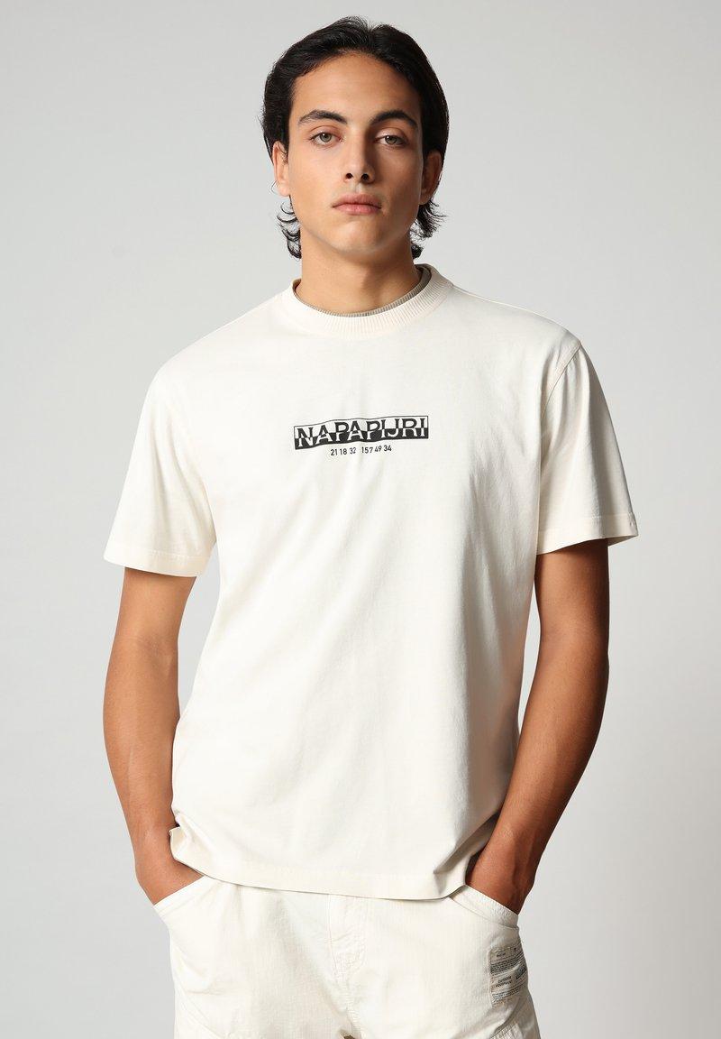 Napapijri - S-OAHU - T-shirt med print - new milk