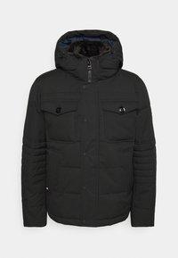 REMOVABLE HOODED BOMBER - Winter jacket - black