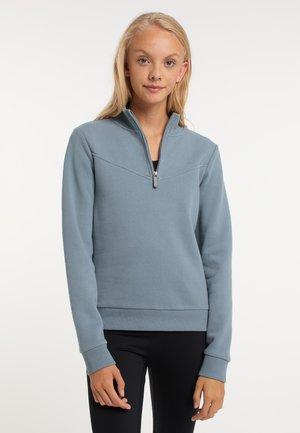 Sweater met rits - blue-grey
