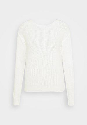 BACK DETAIL - Strikpullover /Striktrøjer - off white