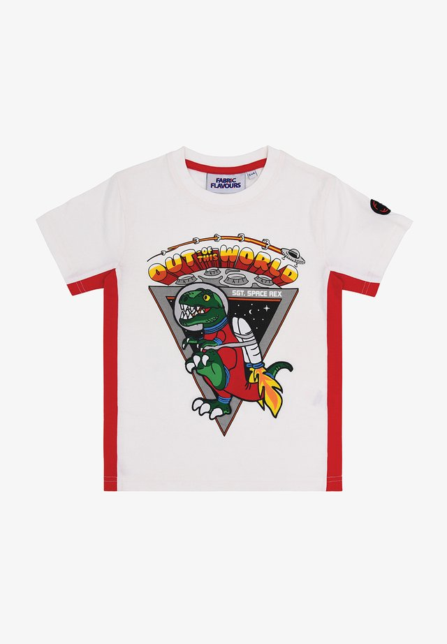 OUT OF THIS WORLD SPACE REX TEE - Print T-shirt - white
