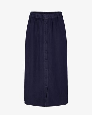NUBROOKLYN SKIRT - Maxi skirt - dark blue