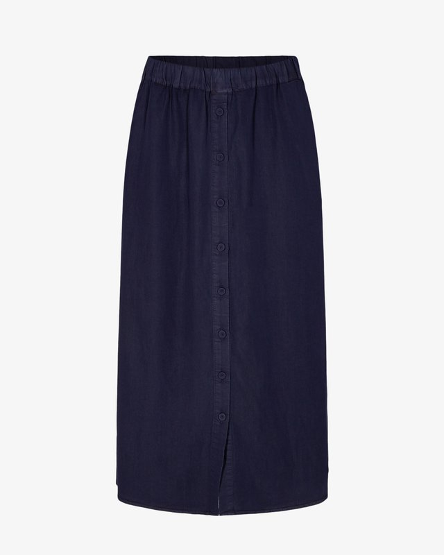 NUBROOKLYN SKIRT - Maxi sukně - dark blue