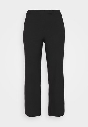 ESSENTIAL WIDE LEG TROUSER - Bukser - black
