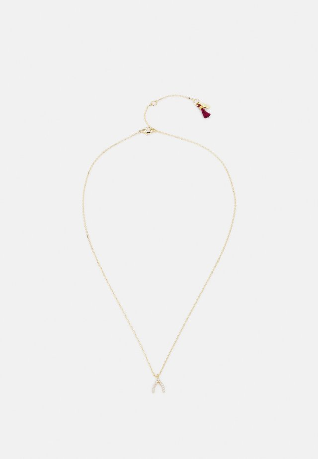 WISHBONE PAVE NECKLACE - Kaulakoru - gold-coloured