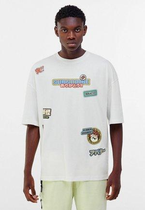 OVERSIZED - T-shirt print - off white