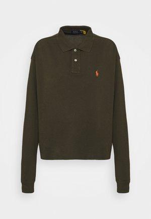 LONG SLEEVE - Polo shirt - dark loden