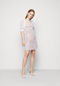 MICHAEL Michael Kors - GEO EYELET MINI DRESS - Day dress - white - 1