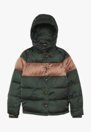 SHORT LENGTH PADDED JACKET WITH DETACHABLE HOOD - Winter jacket - forest green