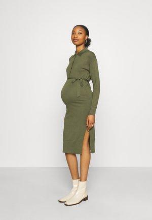 NURSING MLSALOME LIA MIDI DRESS  - Jumper dress - dusty olive