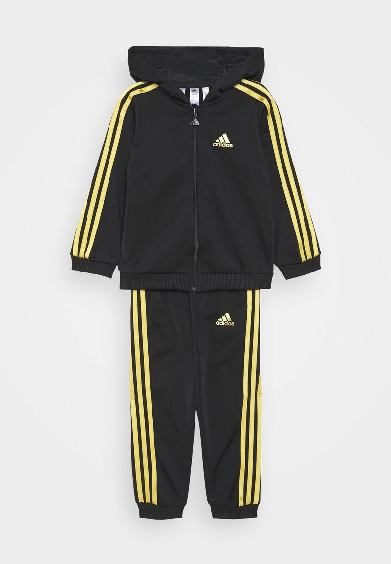 adidas Performance - SHINY UNISEX - Tuta - black/gold