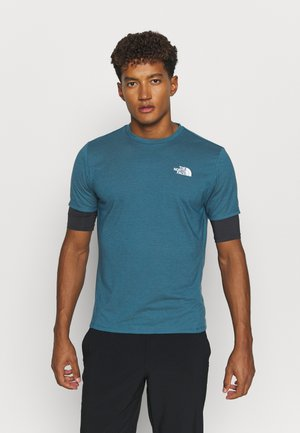 ACTIVE TRAIL - Basic T-shirt - mallard blue/asphalt grey