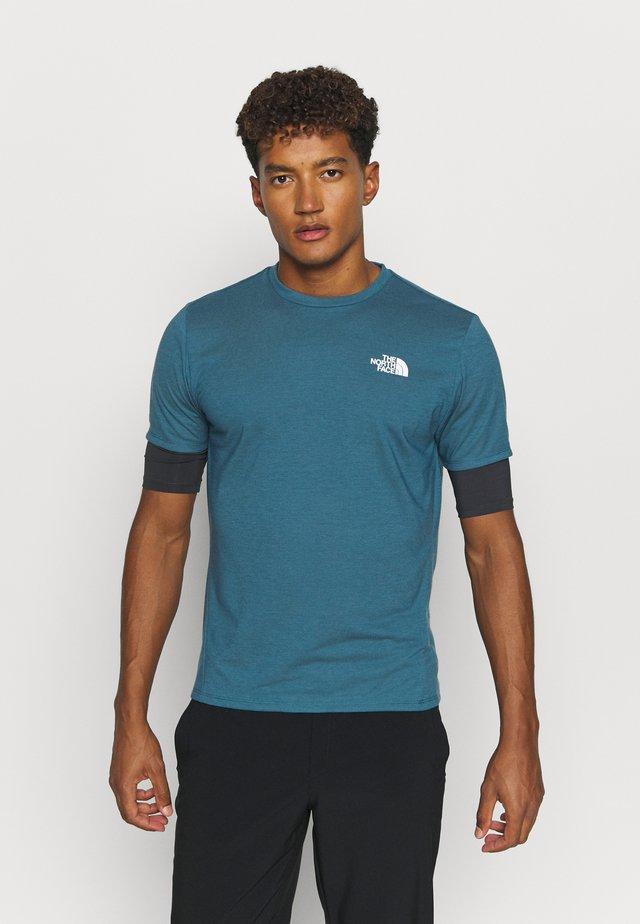 ACTIVE TRAIL - T-shirt basic - mallard blue/asphalt grey