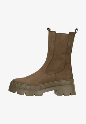 Ankle boots - brown/green