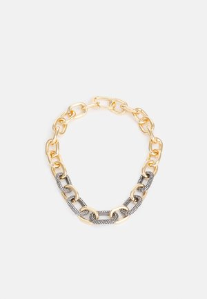 ADJUSTABLE CHUNKY PAVE LINK - Necklace - gold-coloured