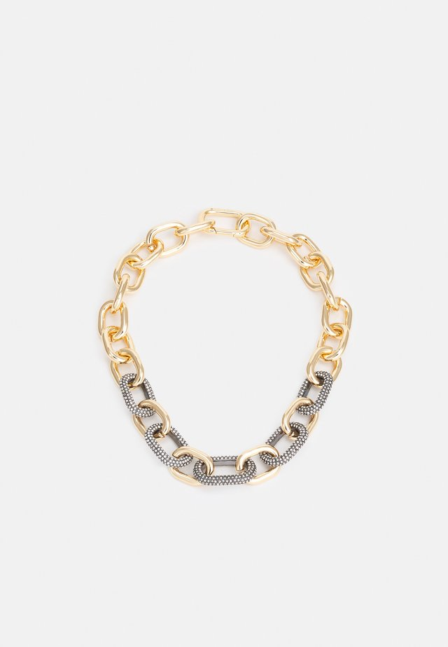 ADJUSTABLE CHUNKY PAVE LINK - Halskette - gold-coloured