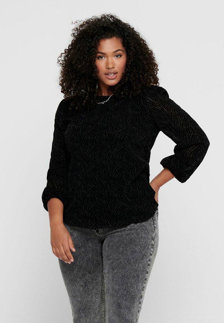 ONLY Carmakoma - ZEBRA - Long sleeved top - black