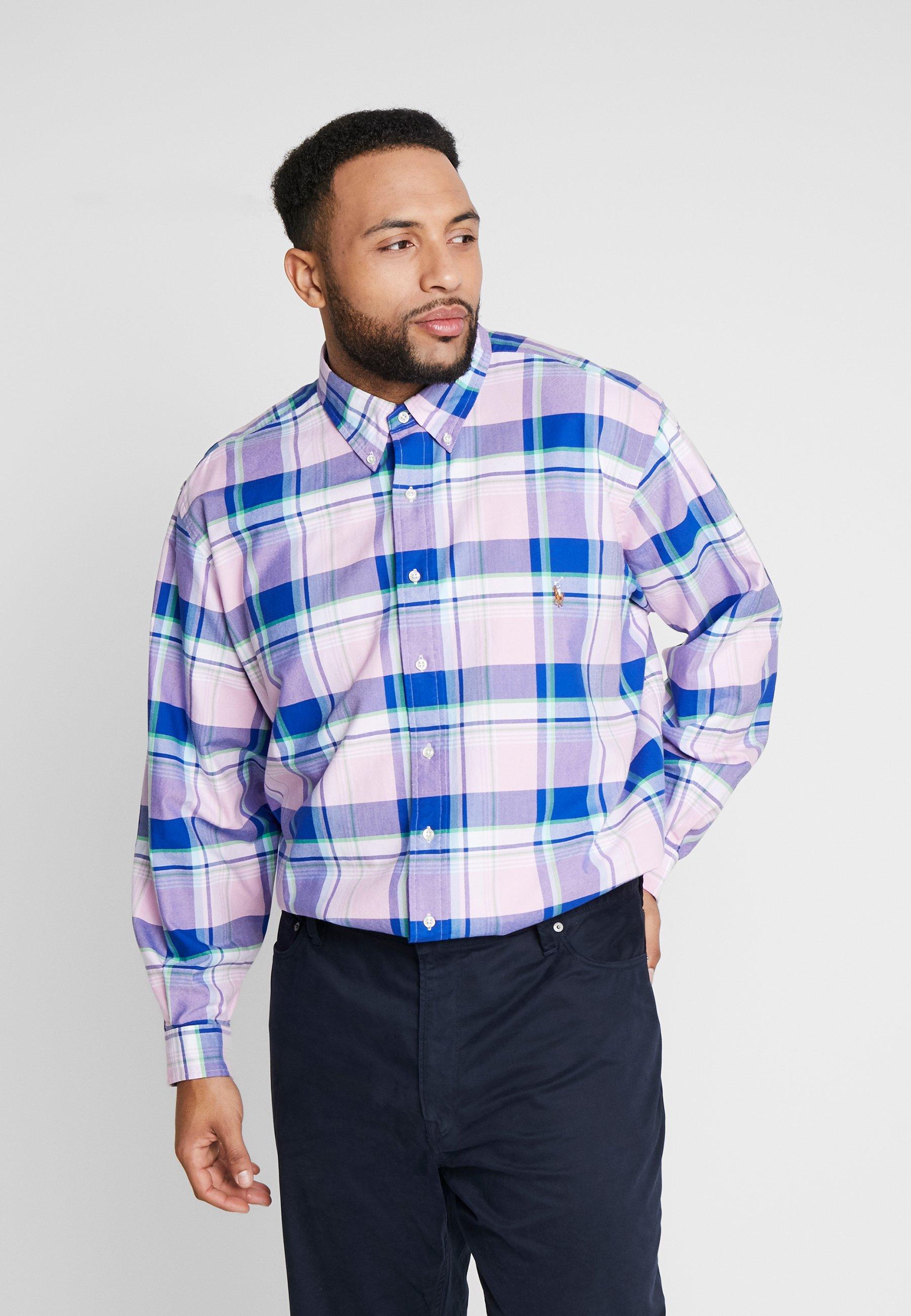 Verkkokaupat Miesten vaatteet Sarja dfKJIUp97454sfGHYHD Polo Ralph Lauren Big & Tall OXFORD Vapaa-ajan kauluspaita pink/blue