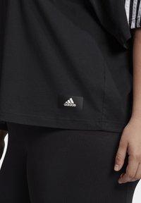 adidas Performance - AGRAVIC PARLEY PRIMEBLUE SHIRT TRAIL RUNNING - Print T-shirt - black/white - 5