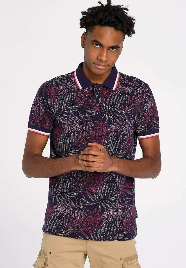 OUTBACK NAVY LEAVES - Polo - blauw