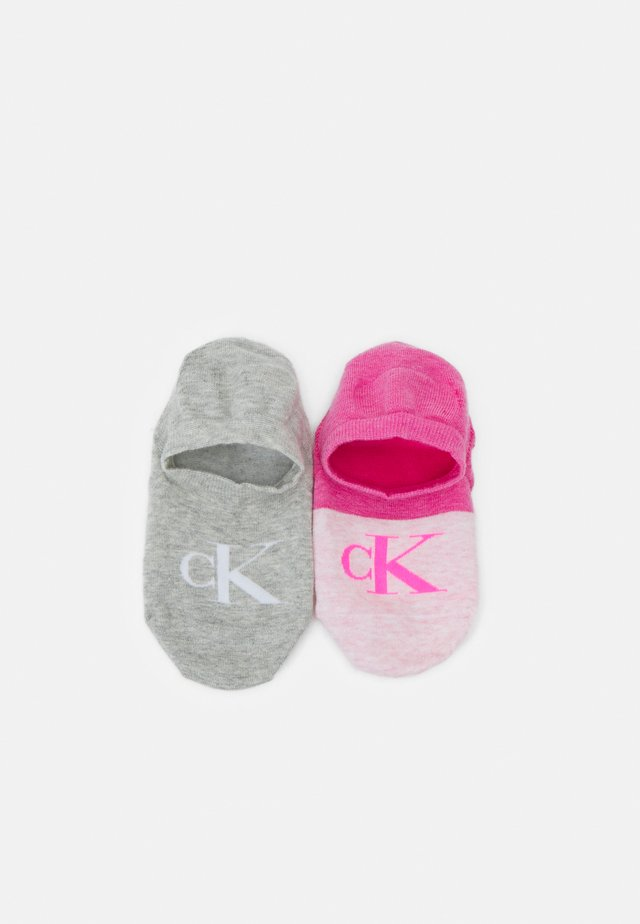WOMENS LOGO LINER EVA 2 PACK - Socks - pink/grey