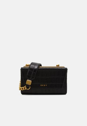 COOPER BOX CROSSBODY - Torba na ramię - black/gold-coloured